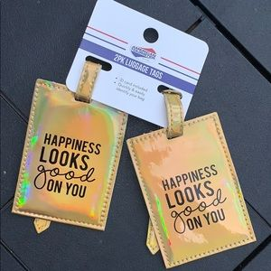 NWT Happiness Luggage Tag